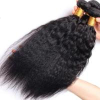 Cheap Brazilian / Peruvian Kinky Straight Virgin Human Hair Bundles With Natural Color for sale
