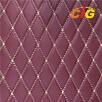 Buy cheap 2019 Embroidery Quilted Stitching PU PVC Synthetic Leather Fabric for Car Seat from wholesalers