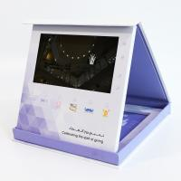 Cheap Hardcover 7 Inch LCD Video Brochure Business Gift Custom Printing video pack gift box for sale