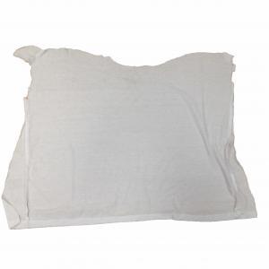 Cheap Grade A 50kg/Bale 35cm White T Shirt Rags for sale