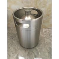 Cheap 2L Mini keg growler stainless steel food grade material Beer growler with tap faucet for sale