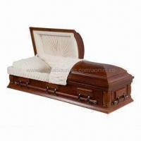 Cheap US Style Solid Oak Wood Casket with Memory Tube for sale