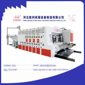 Cheap Electric 3 Color Flexo Printing Machine , Automatic Printer Slotter Machine for sale