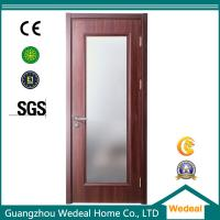 Cheap Factory Supply Red Wood Interior Panel Doors with Glass Panel for sale