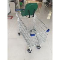 Buy cheap 5 Inch Wheel Metal Steel Shopping Cart Trolley 21.62kg With Safety Baby Capsule from wholesalers