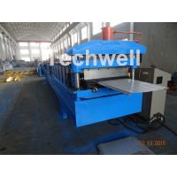 Reasonable Cold Roll Forming Machine For PU Roof Panels , PPGI Galvanized Steel Raw Material Manufactures