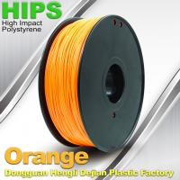 Cheap Markerbot , Cubify  3D Printing Materials HIPS Filament 1.75mm / 3.0mm Orange Color for sale
