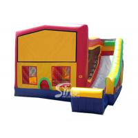 Cheap PVC Tarpaulin Inflatable Bounce Houses With Slide Multifunctional for sale