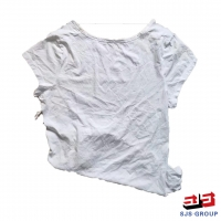 Cheap 10Kg Package White T Shirt Rags for sale