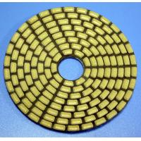 China Dry or Wet pads for marble or granite floor of the high efficient 4 inch 100 mm diamond sponge polishing pad on sale
