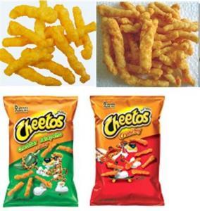 Quality Fried Cheetos Crunchy Corn Twist Curl machinery/ Kurkure snack/processing line wholesale