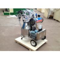 Quality Two Buckets Mobile Milking Machine , Vacuum Pump Dairy Milking Equipment for sale