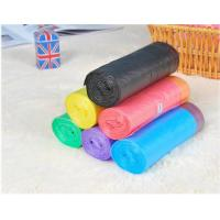 Cheap HDPE Packaging Home Garbage Bags , Drawstring Trash Can Liners Customized Size for sale