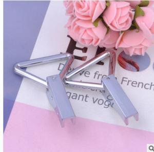 Cheap Modern Handbag Metal Hardware Triangle Metal Ring Pantone Painting Surface Treatment for sale