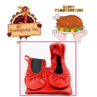 Cheap Best Thanksgiving Day Gift 2018 Customized Foldable Ballet Shoes with Cheapest Price in China for sale