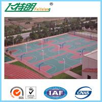 Cheap Silicon PU Athletic Court Floor Poly Floor Coating Elastic Sports Court Material for sale