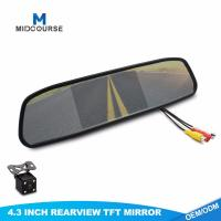 Cheap 4.3 Inch FHD Universal Car Rearview Mirror with Backup Camera for sale