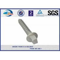 Railway Track Sleeper Screw Spike with Slotting Head plain black galvanized Manufactures