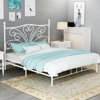 Buy cheap King Size Luxury Odm 0.8mm Metal Bunk Bed Frame Wrought Iron Modern from wholesalers