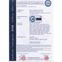 BOTOU HAIDE MACHINERY MANUFACTURING CO.,LTD Certifications