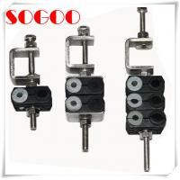 China 3 Double Holes Feeder Coaxial Clamp For 7/8 Cable M8 Threaded Hole on sale
