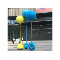 Cheap Custom Size Painted Metal Sculpture Stainless Steel Balloon Sculpture For Outdoor for sale
