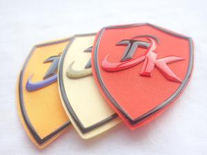 Cheap Eco Friendly Custom Woven Silk Screen Printing Patches With Silicone Logo for sale