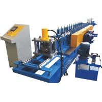 Cheap 0.7~1.2mm Thickness Roller Shutter Door Roll Forming MachineWith Perforation System for sale