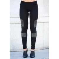 Cheap Black Women'S Fashion Leggings PU Leather Leggings 92% Cotton 8% Spandex for sale