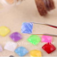 Cheap 2015 Latest Glitter rhinestone Flat back resin crystal stone neon color stone for sale
