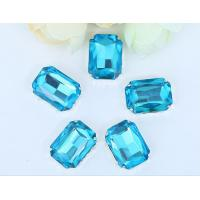 Cheap point back rhinestone claw setting sew on chaton Aquamarine 13*18mm for sale