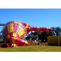 Big Commercial Pool Water Slides / Funnel Water Slide Customized Size