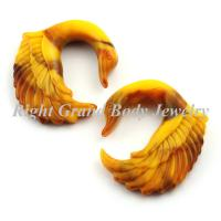 Buy cheap Brown Swan Carved Spiral Ear Tapers Plugs Gauge For Party / Wedding from wholesalers