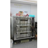 Cheap 3 Deck 12 Trays Electric Oven For Baking , Big Glass Door Gas / Electric Deck Pizza Oven for sale