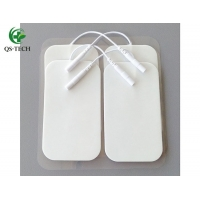Cheap 5x9cm foam therapy massager electrode pads with 4 electrodes tens physiotherapy for sale