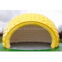 Cheap PVC Tarpaulin Yellow Inflatable Dome Tent for outdoor event for sale