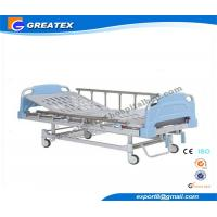 Double Rocker Manual Medical Adjustable Bed With Aluminum