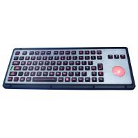Cheap Robust IP65 Backlit Industrial Keyboard With Trackball for sale
