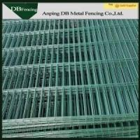 Buy cheap High Security Green Welded Wire Fence , Curved Steel Mesh Fence Panels from wholesalers