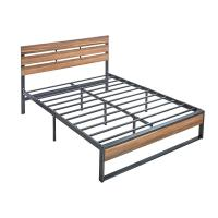 Cheap Full Size Hotel Wooden Slat Bed Frame Customizable Size 6 Legs Stability for sale