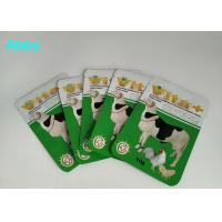Cheap Logo Customized Pet Food Pouch , Gree Color Food Packaging Bags For Animals for sale