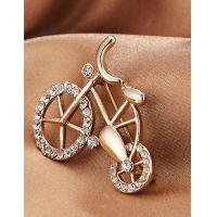 Cheap Korean Fashion Cute Bicycle Alloy Brooch for Women in Jewelry Factory Direct 2015 for sale