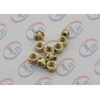 Cheap OEM ODM CNC Machining Parts , Swiss Lathe Turning Brass Knurled Nuts with M5 Thread for sale