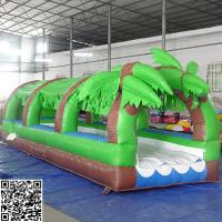 Cheap Giant Pvc Forest Inflatable Slide Inflatable Amusement Park Equipment OEM / ODM for sale
