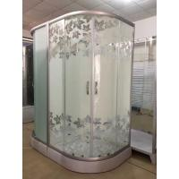 Cheap Simple Maple Leaf Shower Cabin With Tray , Bathroom Shower Cubicles for sale