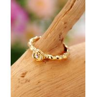 Cheap 2015 New Fashion Cute Golden Flower Rings for Women in Jewelry Factory Direct for sale