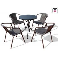 Cheap Square/ Round Outdoor Restaurant Tables Carbon Steel Weatherproof Patio Furniture  for sale