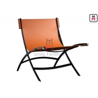 Cheap Bowed Tanned Leather Unfoldable 0.5cbm Single Sofa Chair for sale