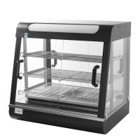 Cheap Hotel Buffet Food Warm Glass Display Showcase / Hot Food Display Cabinets for sale
