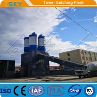 Cheap 37KW Environmental Friendly HL60 Tower Batching Plant for sale